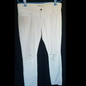 J BRAND Size 29 Boyfriend Jeans White Destroyed